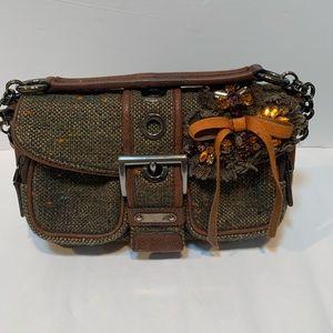 WOW ! Prada tweed jeweled wool mini handbag RARE
